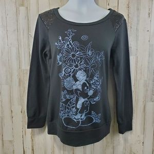 Disneyland Walt Disney World Womens Top L Black
